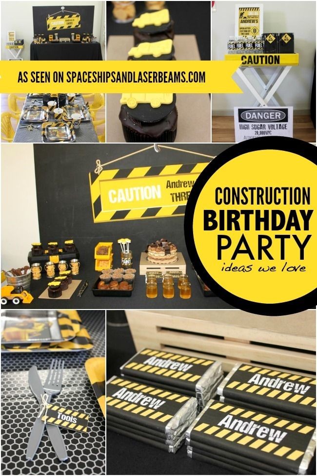 45 construction birthday party ideas. Black Bedroom Furniture Sets. Home Design Ideas