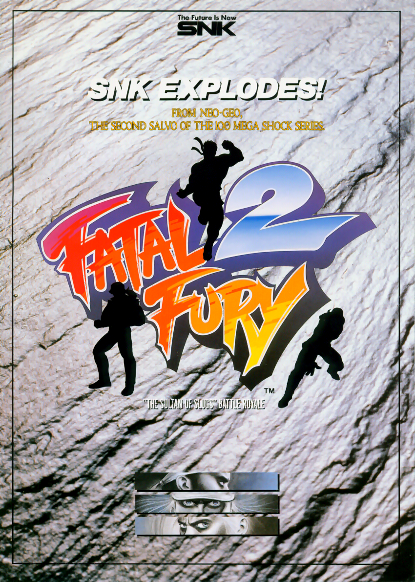 Fatal Fury 2 Garou Densetsu 2 Arata Naru Tatakai Flyer Art Of Fighting Retro Gaming Classic Video Games