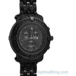 Custom Sport Black Bling Bling Watch