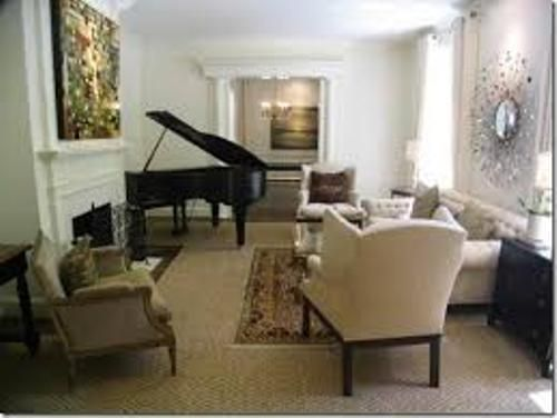 How to arrange furniture around a baby grand piano for Small grand piano