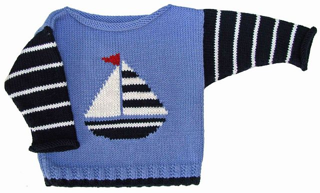 Sailboat Boat Neck pattern by Gail Pfeifle, Roo Designs ...