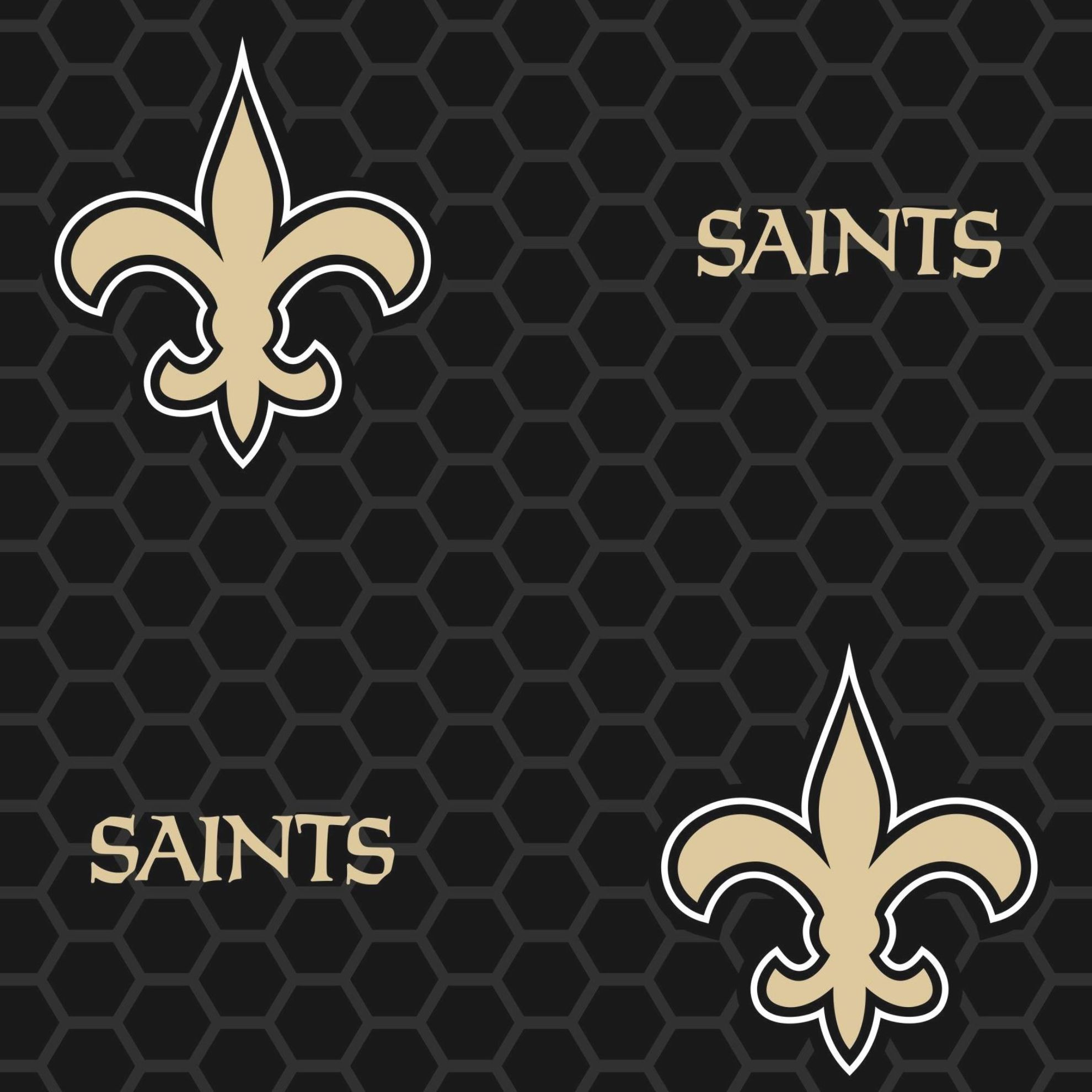 New Orleans Saints: Logo Pattern (Black) - Officially ...