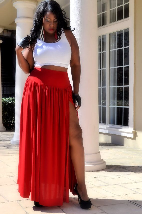 0fba1d4485 plus size red maxi | Add it to your favorites to revisit it later. Plus  Size Maxi Skirt Red ...