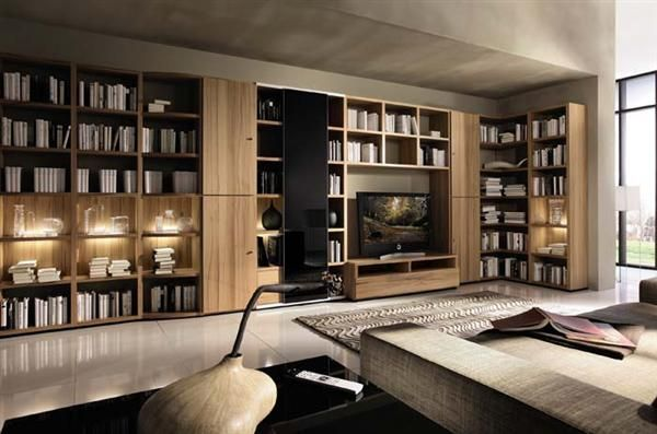Exceptionnel Wooden Showcase Designs For Living Room