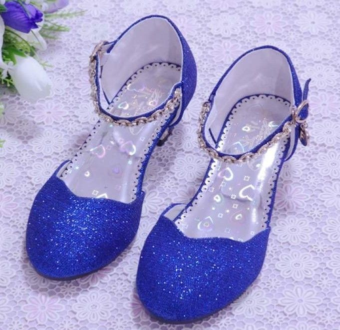 New 2014 Children Princess Sandals Girls Shoes High Heels Dress Shoes Party  Shoes For Girls Pink  Blue Silver Gold-inSandals from Kids   Mothercare on  ... 8cc4699b8ab1