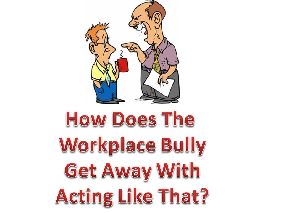 Bullying and brave person look