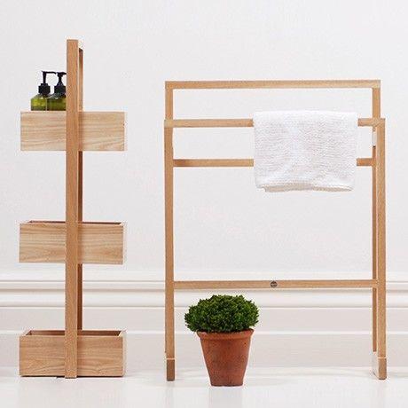 Handtuchhalter - Helle Eiche von Wireworks MONOQI Bäder - badezimmer accessoires holz