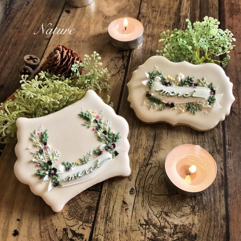 Photo of Ribbon Wreath cookies by Nature.kumi