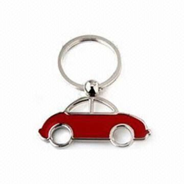 Metal Keychain, Made of Zinc Alloy with Epoxy Above, Fashionable and Durable