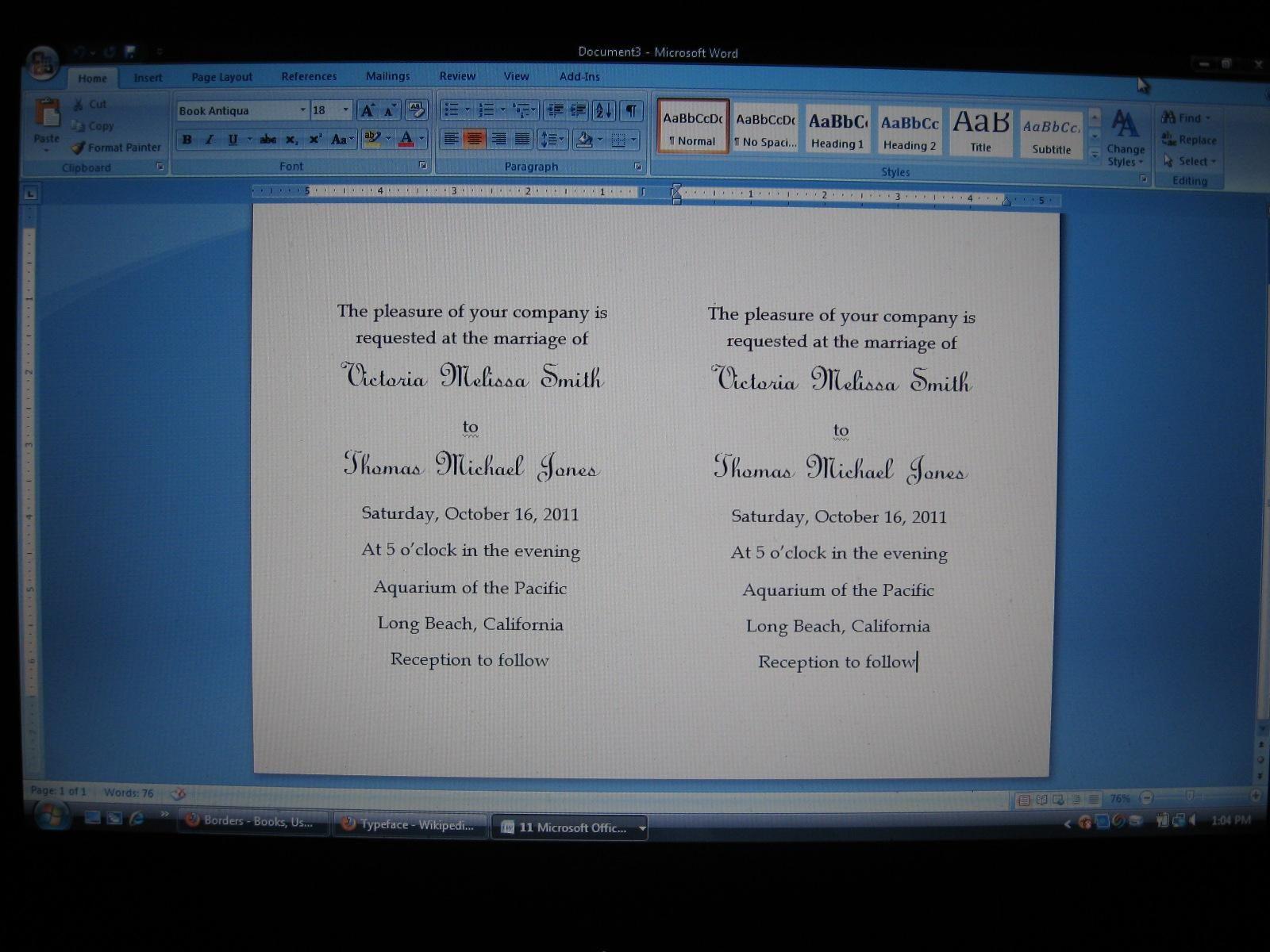 diy wedding invitations simple wedding invitations using microsoft word - Wedding Invitation Software