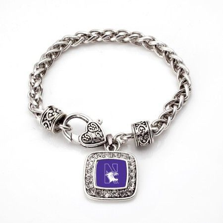 Go Wildcats! Show your Support for your team with this classic braided bracelet featuring the Northwestern University logo on a classic braided band with heart clasp. This bracelet measures 7 1/2 inches long.