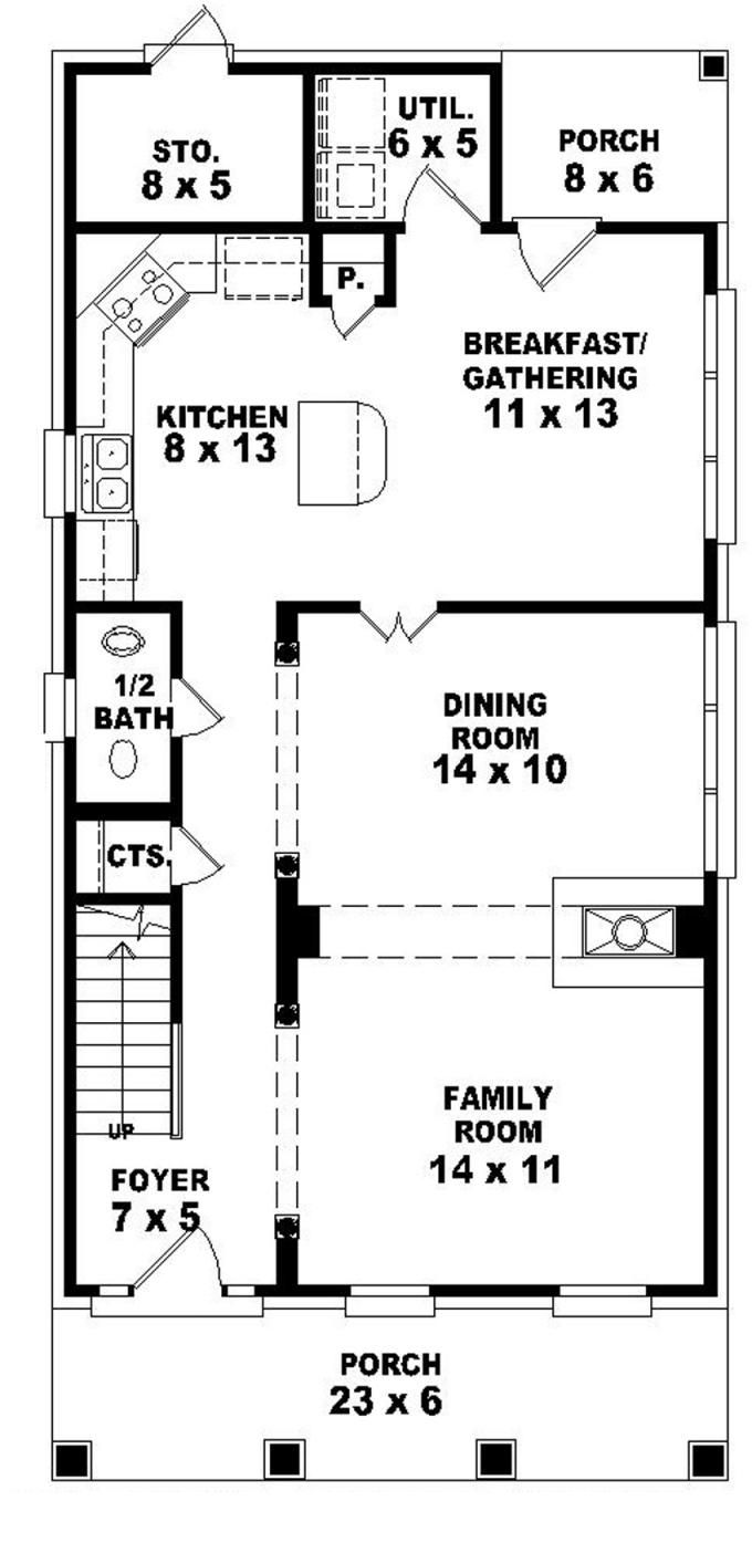 1st Floor Narrow House Plans Narrow Lot House Plans Narrow Lot House