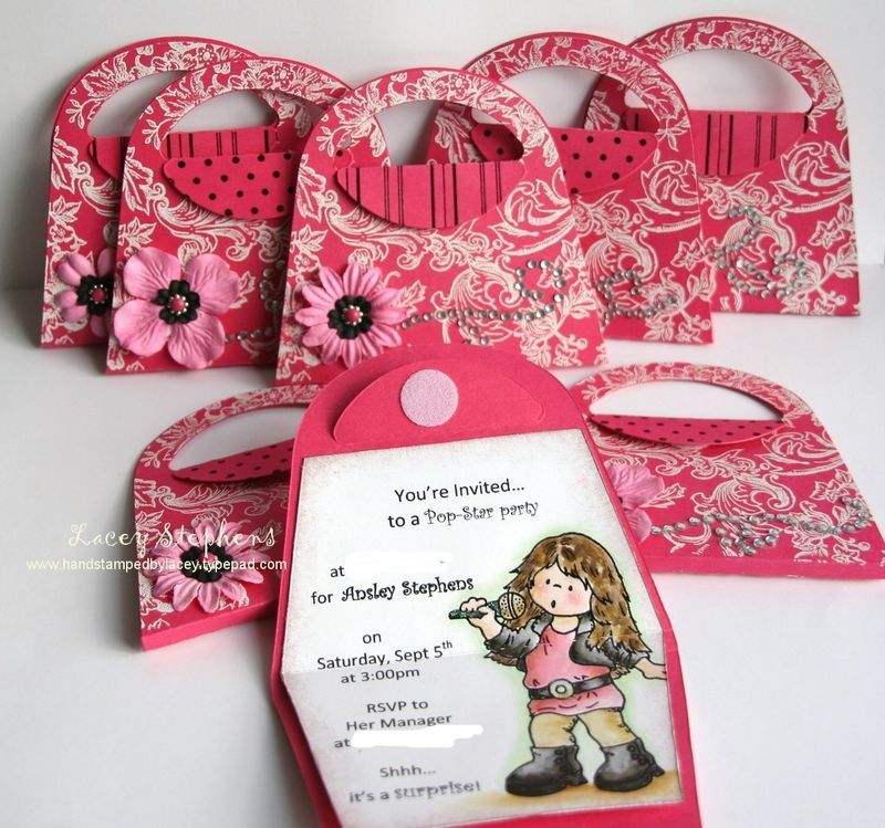 17 Best images about Siennas 7th birthday – Handbag Party Invitations