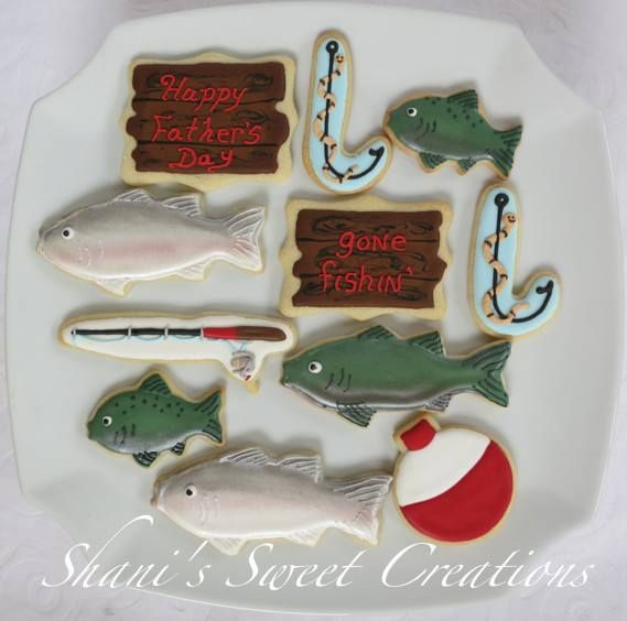 Baited fishing hook candy cane cookie cutter creative for Fish shaped cookie cutters