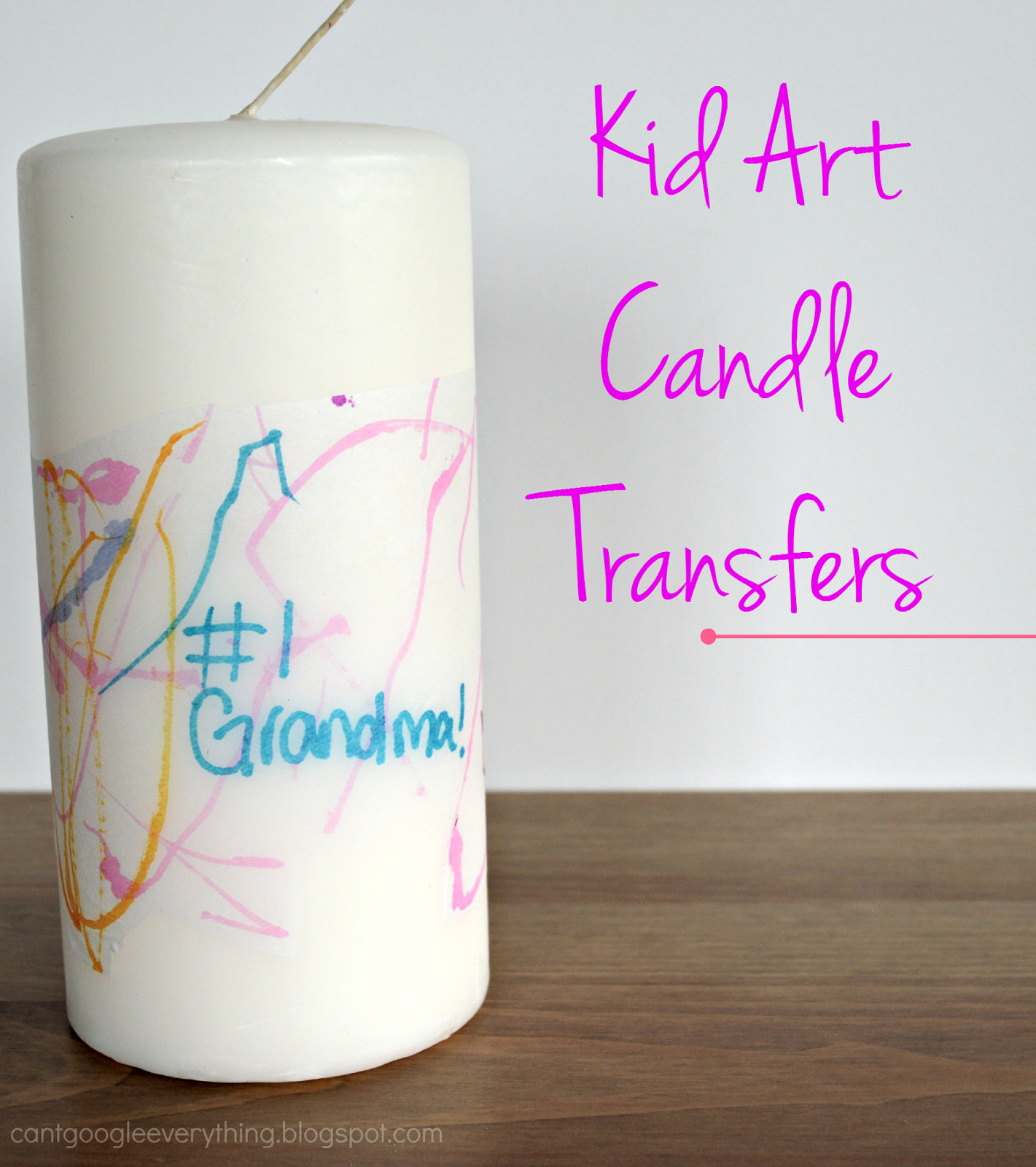 Perfect Gift For Mom Part - 29: DIY Motheru0027s Day Gift: Kid Art Candle Transfers! Perfect Gift For Moms Or  Grandmas
