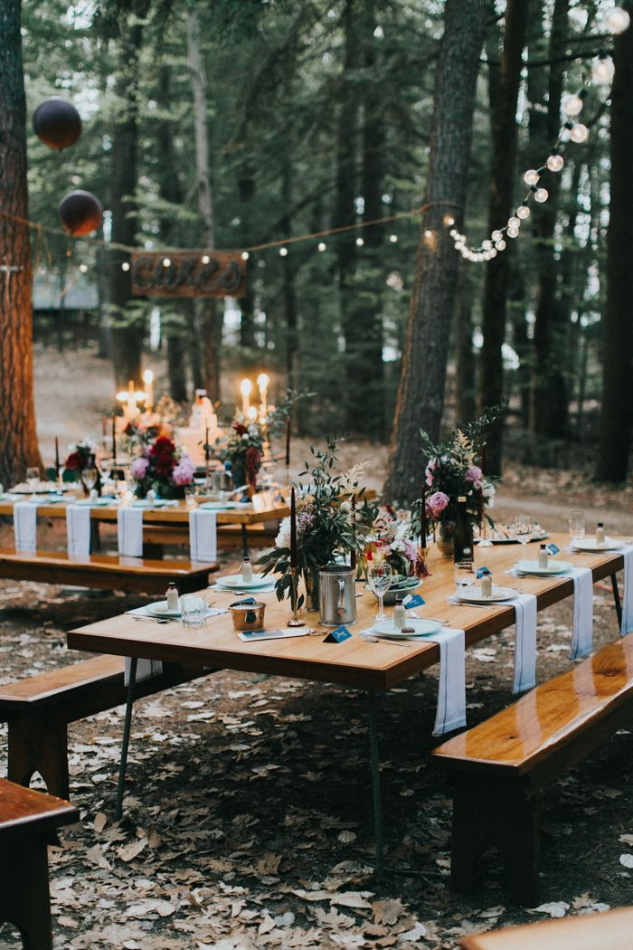Diy Decor From This New England Summer Camp Wedding Reception At Wohelo Image By Photo Katie Harmsworth