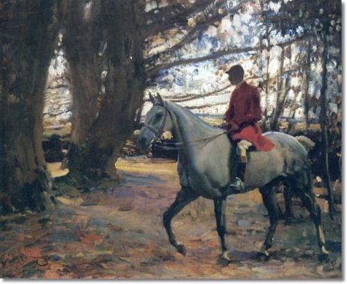 Alfred J Munnings Ajm Trevelloe Wood Cornwall 1913 20 X 24