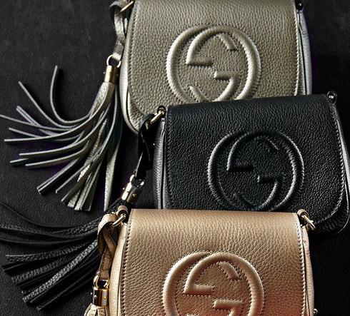 bb62e333a819f2 Gucci Soho Leather Chain Crossbody Bag, Black - ShopStyle Women ...