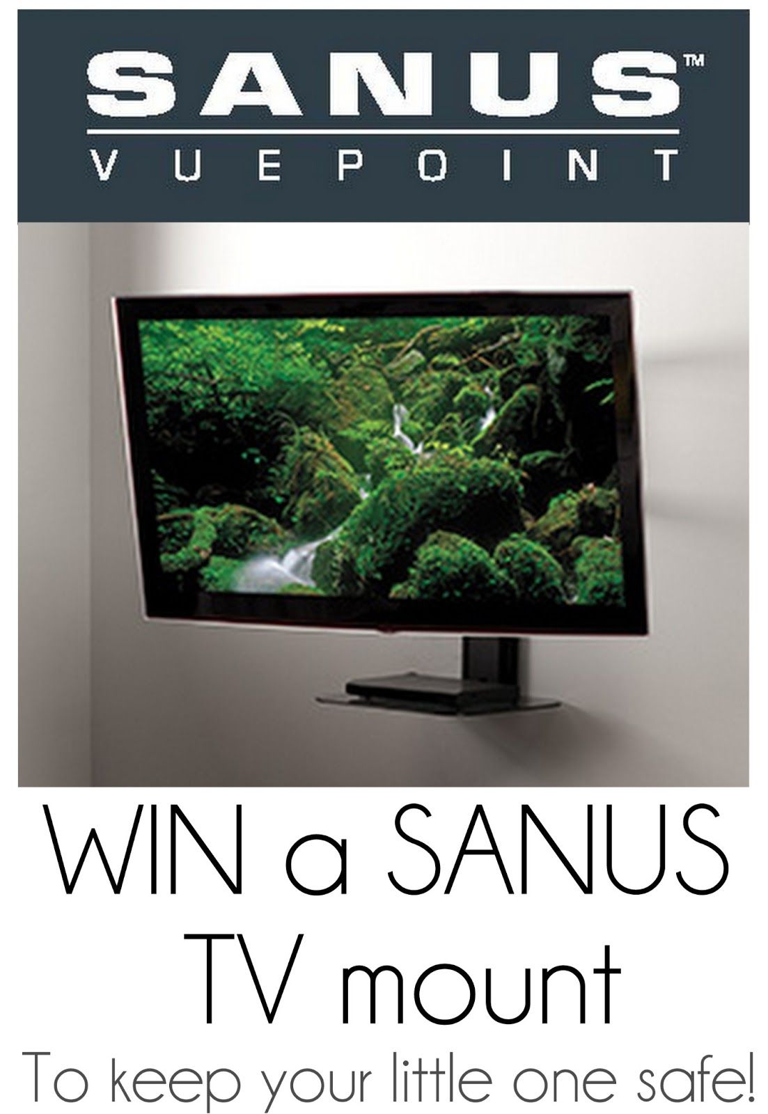 Sanus TV Mount {Giveaway} Thrifty Nifty Mommy Diy tv