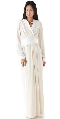 WOW. // Rachel Zoe Estella Tuxedo Wrap Gown