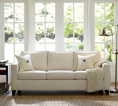 Captivating Apartments · Cameron Upholstered Square Arm Sofa #potterybarn ...