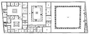 Floor plan of House of the Faun Pompeii Italy