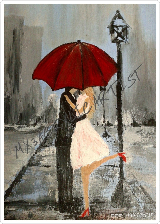 ROMANTIC COUPLE VIOLIN WATERCOLOUR PAINT STYLE CANVAS PRINT WALL ART PICTURE