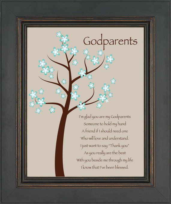 Godparents gift personalized gift for by kreationsbymarilyn 1500 godmother gift gift from godchild custom print wall art gift for godparents other colors available negle Images