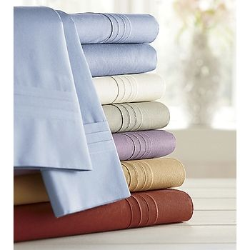 300-Thread Count Percale Sheet Set King - Blue in Holiday 2012 from Ginnys on shop.CatalogSpree.com, my personal digital mall.