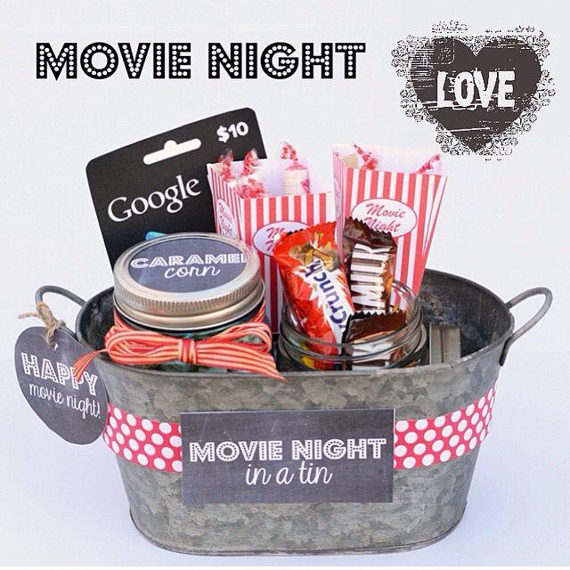 Ideia de presente kit cinema Hampers Gifts