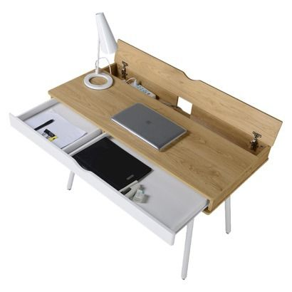 Modern Multi Storage Computer Desk With Storage Beige White Techni Mobili Small Home Office Desk Desk Storage Computer Desk
