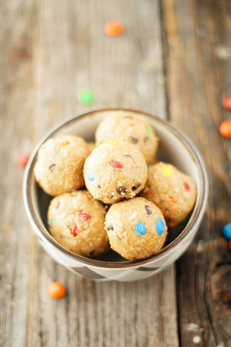 no-bake monster cookie dough bites
