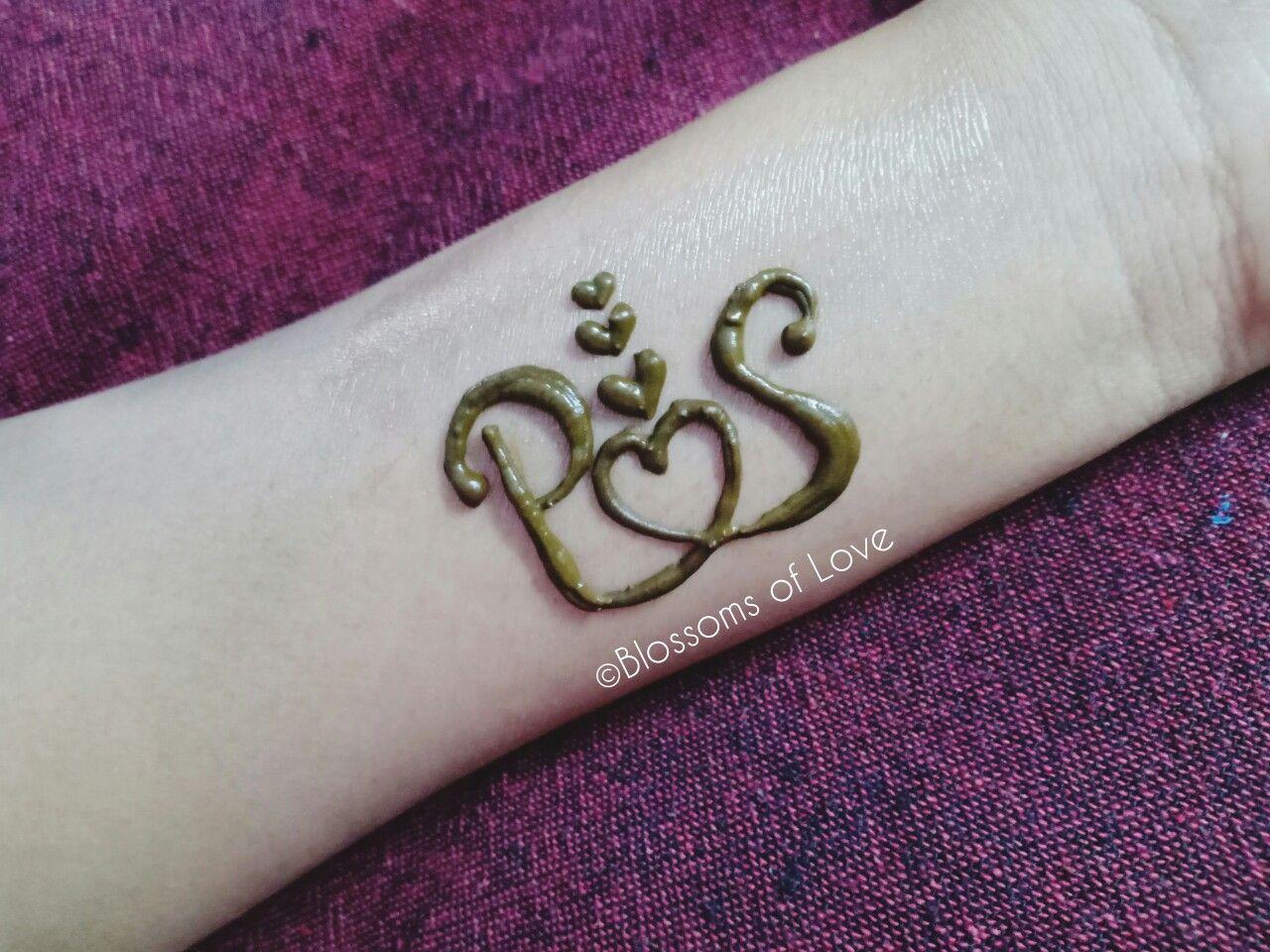 P S Tattoo Mehndi Design P Tattoo Best Mehndi Designs Mehndi Designs