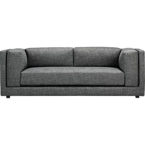 Seating - bolla carbon sofa | CB2 - modern grey tweed sofa, modern gray sofa