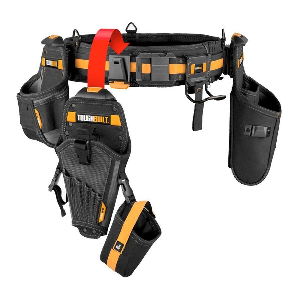 toughbuilt tou-cttb-01105a 7pc drywallers tool belt apron