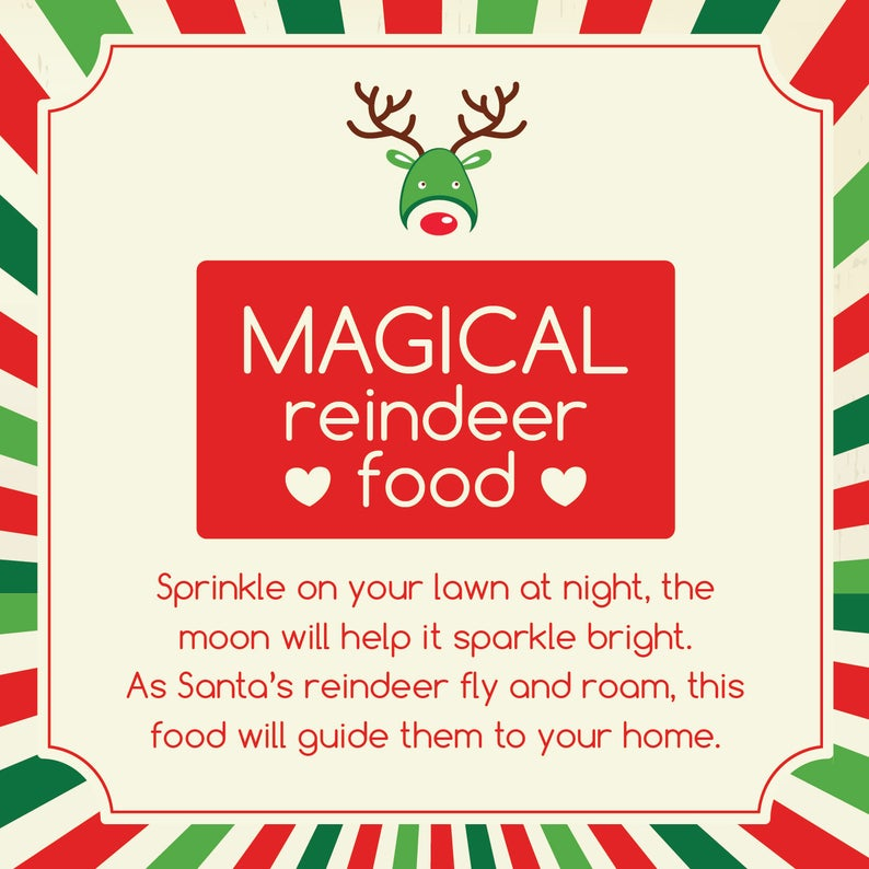 Magical Reindeer Food Printable with Poem #reindeerfoodrecipe