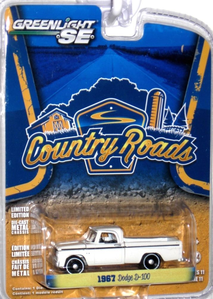 1965 Dodge D 100 Greenlight 1 64 Scale Country Roads Series 11 White Greenlight Dodge Hot Wheels Diecast Custom Hot Wheels