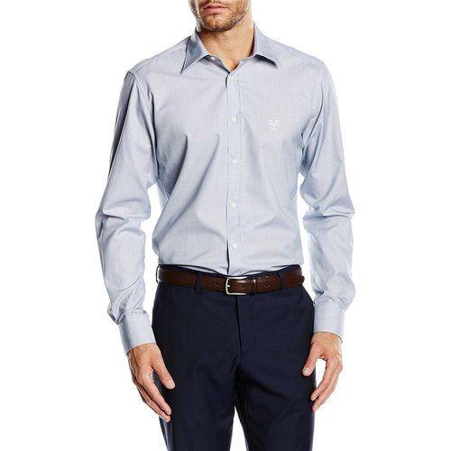 Light Blue 40 IT - 15¾ US Versace 19.69 Abbigliamento Sportivo Srl Milano Italia Fit Modern Classic Neck Shirt MCC55