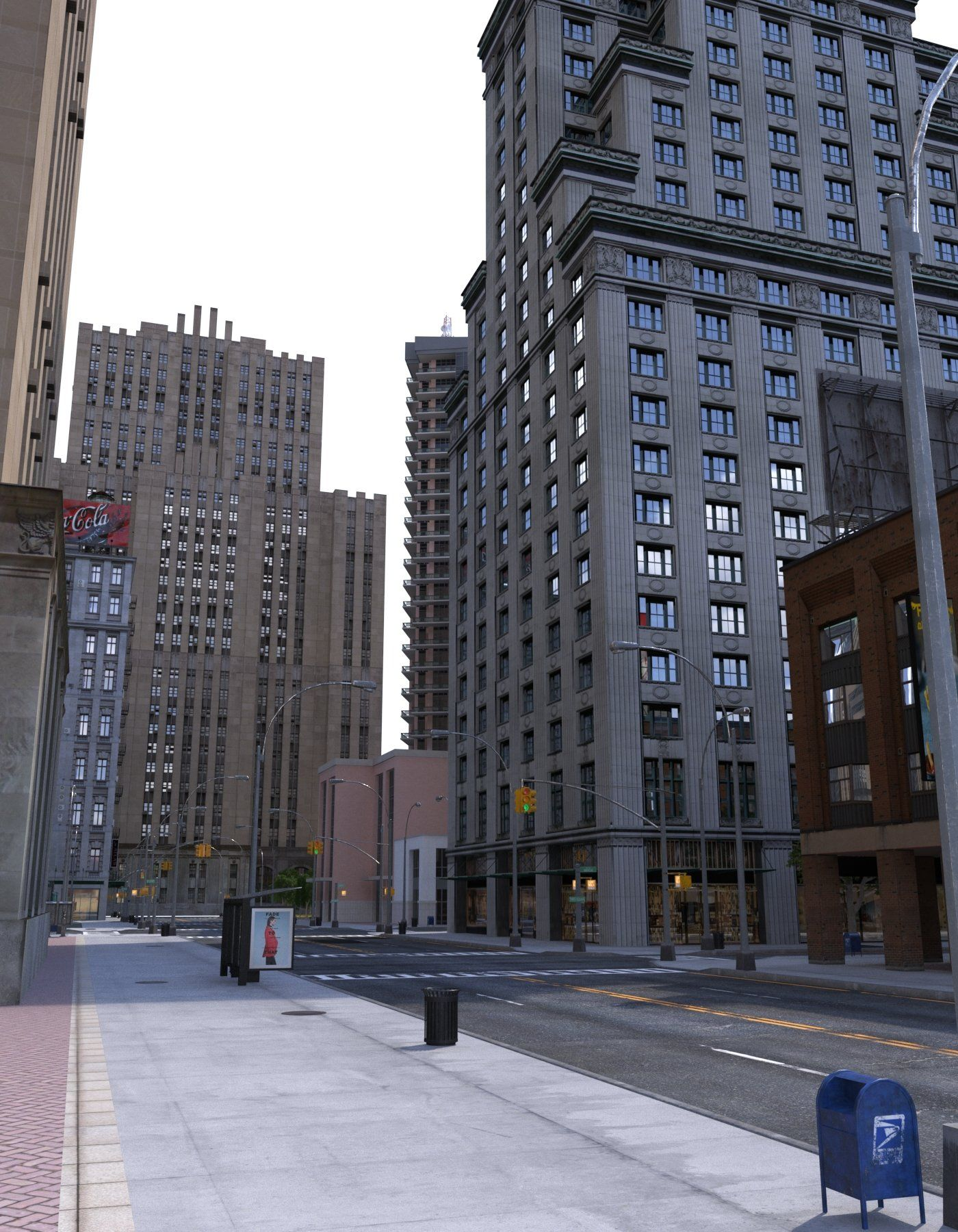 Metropolis City Block 3d Vr Ar City Block Metropolis City