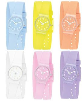 Swatch Lady collection - colors colors colors! And double wrap bands