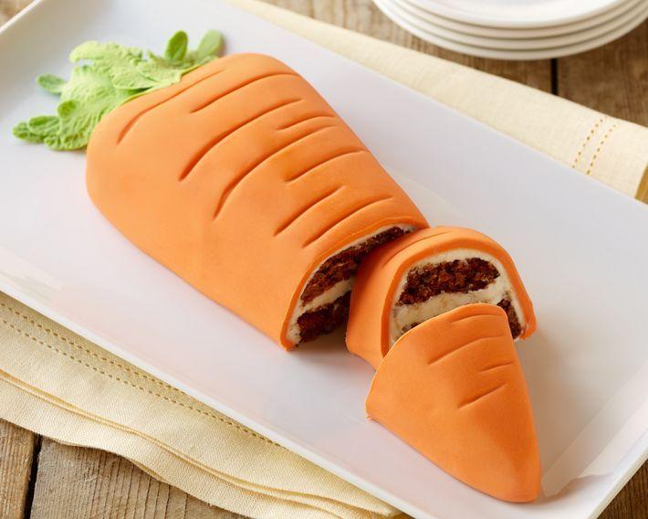 Carrot Shaped Carrot Cake
