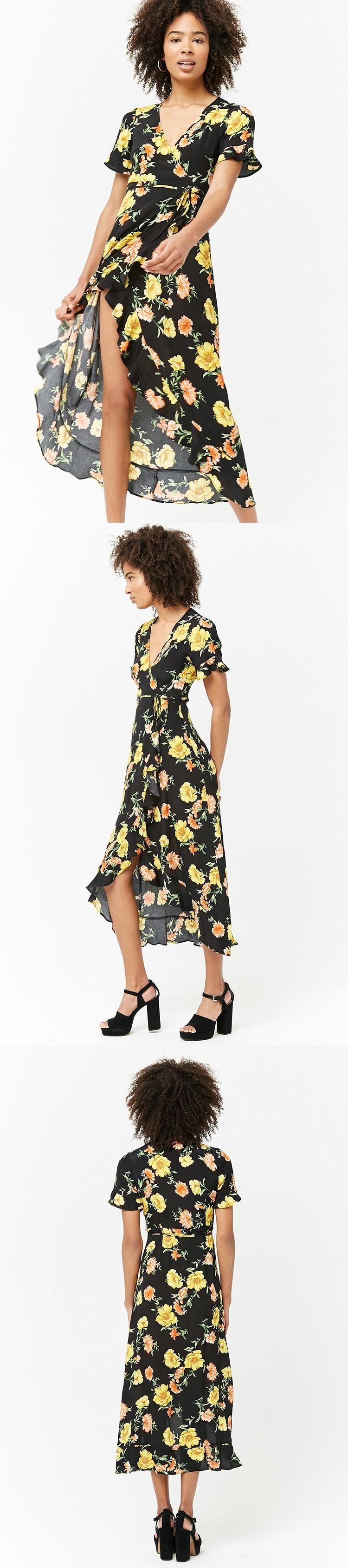 Floral maxi wrap dress usd forever new forever