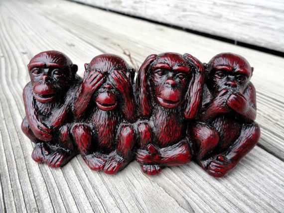 Four Wise Monkeys See No Evil Hear No Evil Speak No Evil Do No Evil Question Why Have We Forgotten The Fourth Wise Wise Monkeys Monkey Art Evil Tattoo