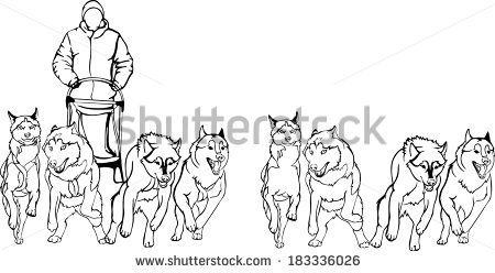 free sled dog coloring pages - photo#16