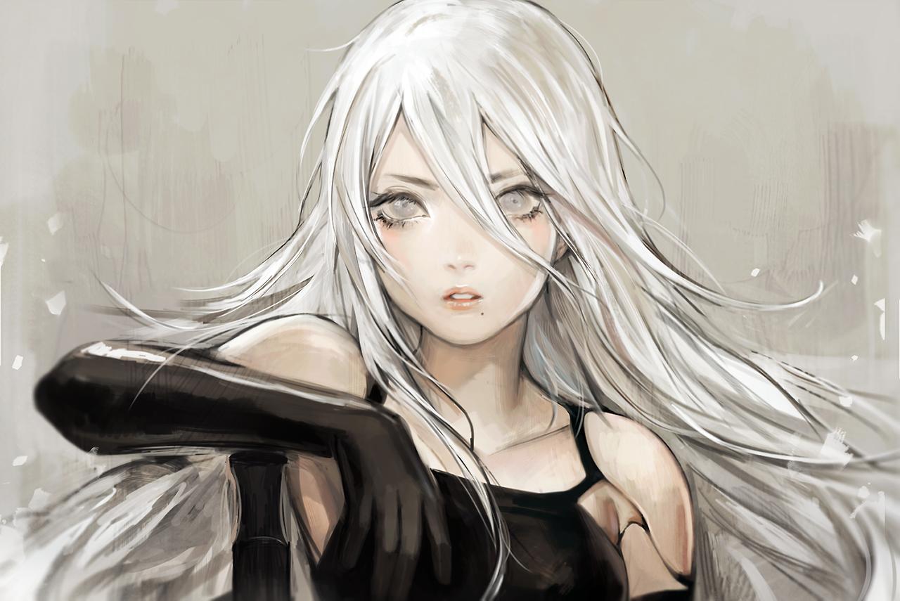 """YoRHa Type A No.2"" Nier automata, Rambut putih, Fotografi"