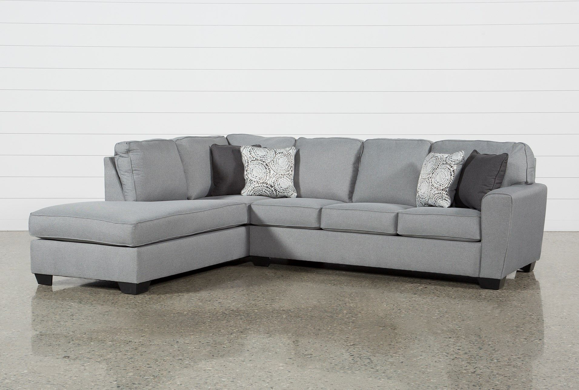 Best Ashley Mcdade Ash 2 Piece Sectional Sofa With Left Arm 400 x 300