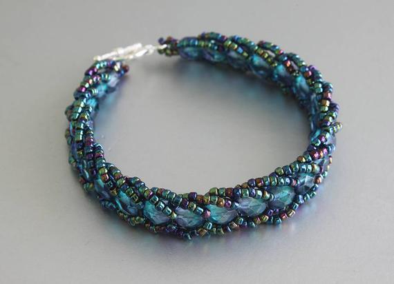 50 Off Flat Spiral Sch Beaded Bracelet Weaved