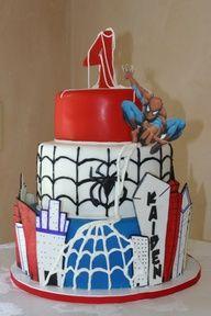 Spiderman birthday cake #Cake