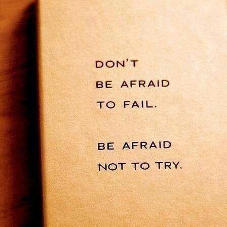 (Don't) Be Afraid.