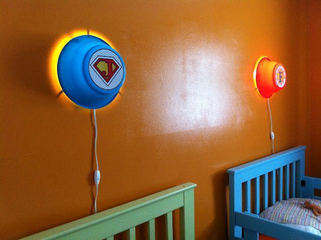 Ikea Hackers Smila Wall Lamps Into Custom Kids Super Hero Night Lights